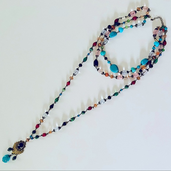 H&M BOHEMIAN BEADED NECKLACE